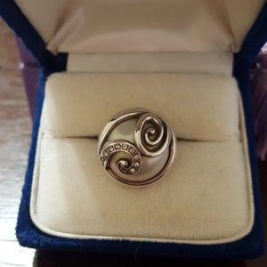 Brighton pearl & Swarovski size 7 ring